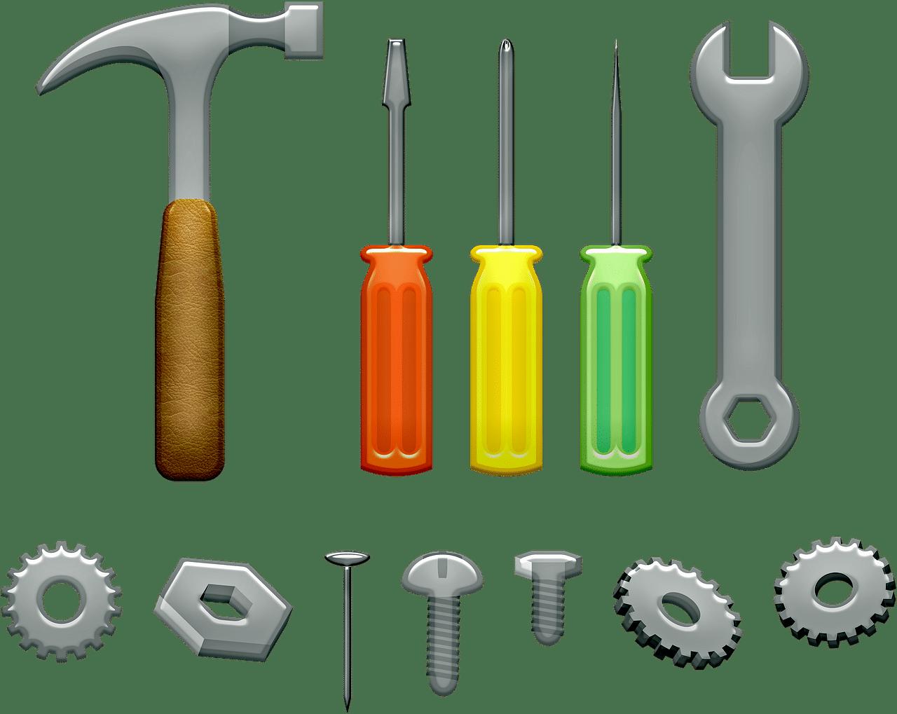 Outils de bricolage à la maison