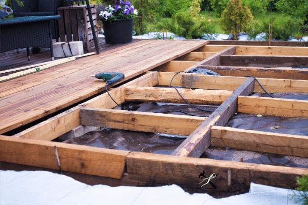 Construction d'une terrasse DIY